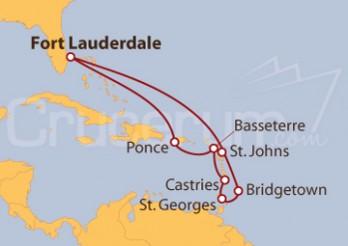 Crucero Puerto Rico, Santa Lucia, Antigua y Barbuda