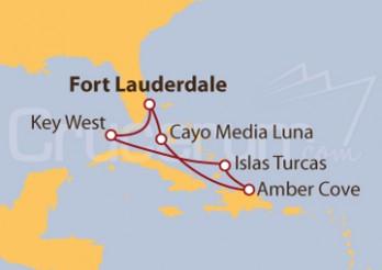 Crucero Islas Turcas, República Dominicana, Bahamas