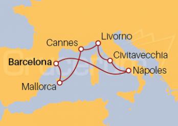 Crucero Mediterráneo Occidental desde Barcelona