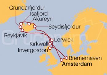 Crucero Islas Británicas e Islandia desde Amsterdam