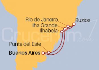 Crucero Argentina, Brasil, Uruguay