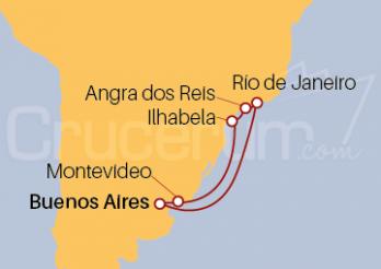 Crucero Brasil y Uruguay desde Buenos Aires