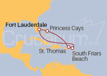 Itinerario Crucero Este Caribeño