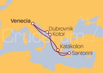 Itinerario Crucero Adriático hasta Santorini