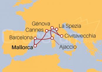 Itinerario Crucero Mediterráneo desde Islas Baleares (Mallorca)