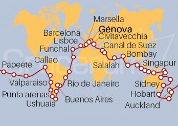 Crucero Vuelta al Mundo 2020 desde Génova