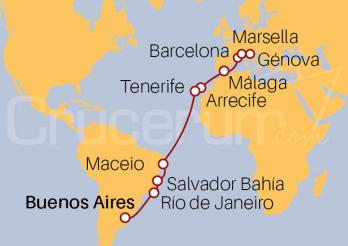 Crucero De Buenos Aires (Argentina) a Génova