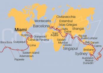 Crucero Vuelta al Mundo 2021
