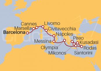 Itinerario Crucero Islas Griegas hasta Turquía