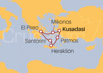 Itinerario Crucero Egeo Icónico