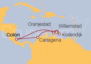 Itinerario Crucero Antillas y Caribe Sur