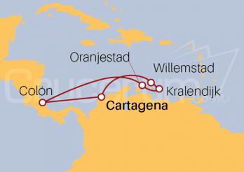 Itinerario Crucero Antillas Holandesas desde Cartagena