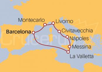 Itinerario Crucero Por el Mediterráneo Occidental