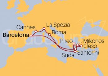 Itinerario Crucero Mediterráneo, Islas Griegas y Turquia