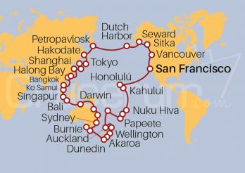 Itinerario Crucero Vuelta al Mundo 2022, Elementos del Pacífico