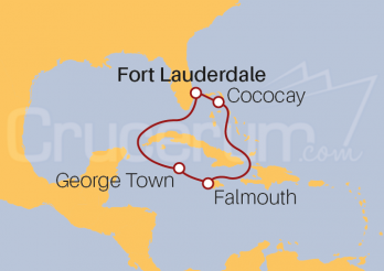 Itinerario Crucero Cococay, Falmouth y George Town
