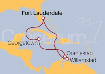 Itinerario Crucero Islas Caimán y Antillas Holandesas