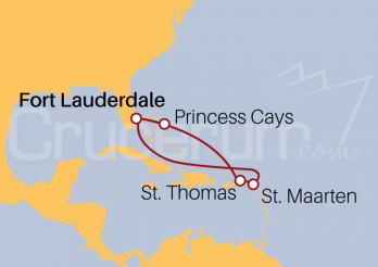 Itinerario Crucero Bahamas y Antillas