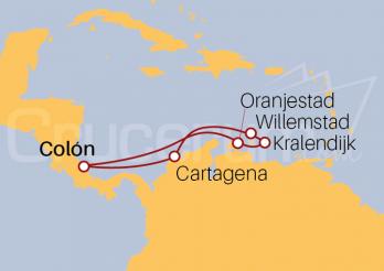 Itinerario Crucero Antillas Holandesas desde Colón