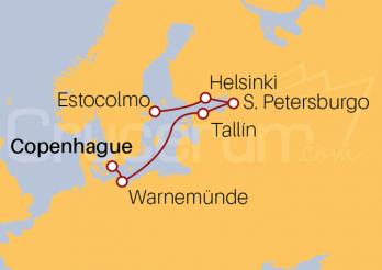 Itinerario Crucero Maravillas Bálticas