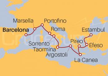 Itinerario Crucero Esencia del Egeo