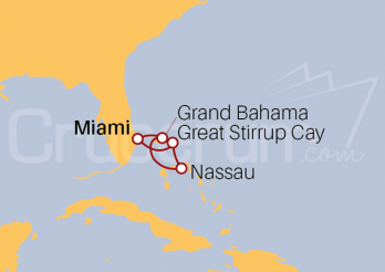 Itinerario Crucero Minicrucero por las Bahamas