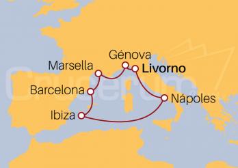Itinerario Crucero Mediterráneo desde Livorno
