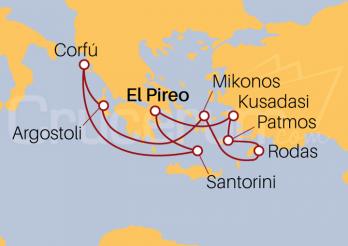 Itinerario Crucero Islas Griegas y Turquía desde El Pireo