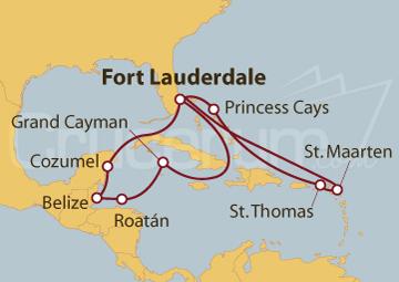 Itinerario Crucero Aventura Caribeña