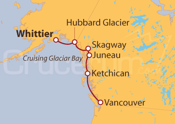 Itinerario Crucero Alaska, Viaje a los Glaciares