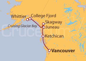 Itinerario Crucero Alaska - Viaje a los Glaciares