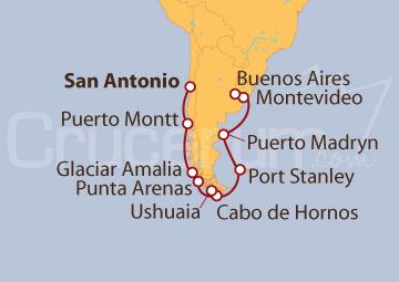 Itinerario Crucero Descubra Sudamérica
