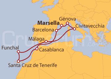 Itinerario Crucero Mediterráneo, Islas Canarias y Funchal