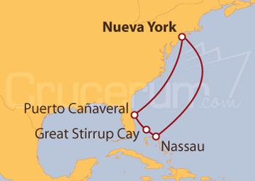 Itinerario Crucero Bahamas desde Nueva York (EE UU)