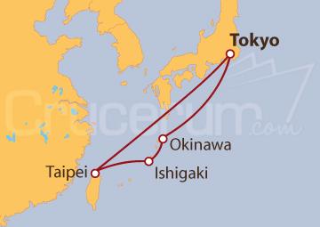 Itinerario Crucero Islas Ryukyu desde Tokio