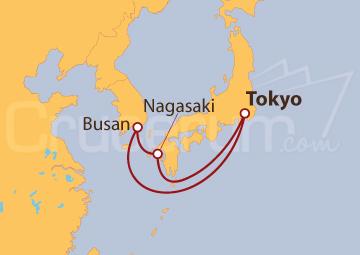 Itinerario Crucero Nagasaki y Busan
