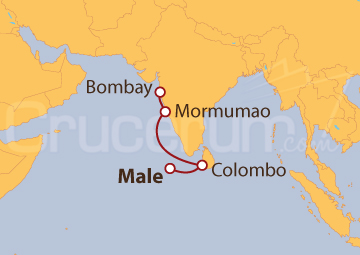 Itinerario Crucero De Male (Maldivas) a Bombay (India)