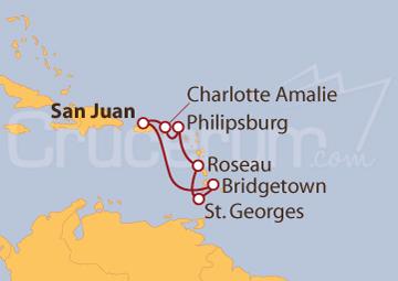 Itinerario Crucero Antillas Menores