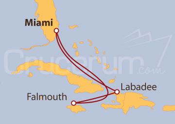 Itinerario Crucero Haití y Jamaica desde Fort Lauderdale (EE UU)