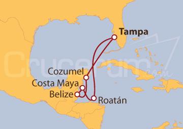 Itinerario Crucero México y Honduras
