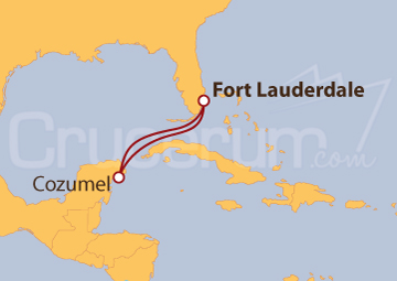Itinerario Crucero Cozumel desde Fort Lauderdale