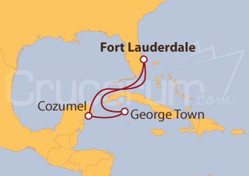 Itinerario Crucero Islas Caimán y México