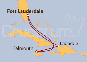 Itinerario Crucero Jamaica y Haití