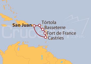 Itinerario Crucero Antillas desde San Juan (Puerto Rico)