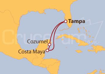 Itinerario Crucero México: Costa Maya y Cozumel