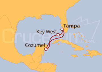 Itinerario Crucero Key West y Cozumel