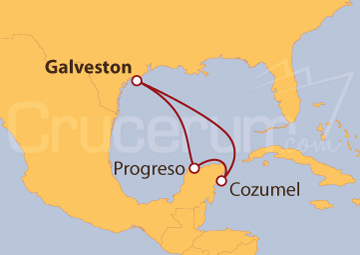 Itinerario Crucero México: Progreso y Cozumel