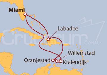 Itinerario Crucero Haití y Antillas Holandesas