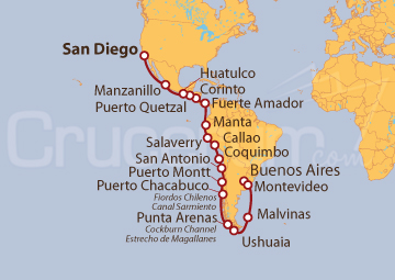 Itinerario Crucero Los Inca y Descubriendo Sudamérica