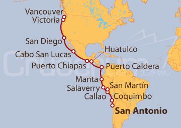 Itinerario Crucero Descubrimiento Inca